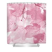 Softness Of Pink Leaves Shower Curtain