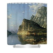 Sogne Fjord Norway  Shower Curtain