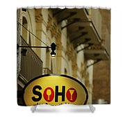 Soho Wine Bar Shower Curtain