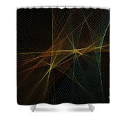 Soil Computer Graphic Line Pattern Shower Curtain