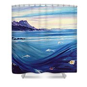 Sokehs Dawn Shower Curtain