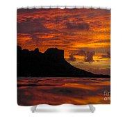 Sokeh's Rock Sunset Shower Curtain