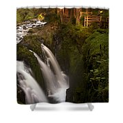 Sol Duc Falls Shower Curtain