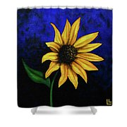 Sol Flower Shower Curtain
