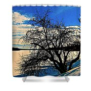 Solace On Silver Lake Shower Curtain