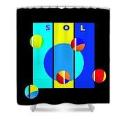 Solar Activity Shower Curtain
