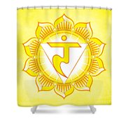 Solar Plexus Chakra Shower Curtain by David Weingaertner