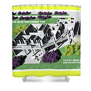 Solar Cube Two Axonometric Shower Curtain