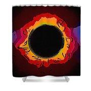 Solar Eclipse 3 Shower Curtain