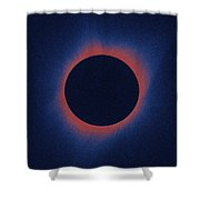 Solar Eclipse, As Seen Above Madras, Oregon, U.s. By Nasa 6 Shower Curtain
