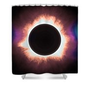 Solar Eclipse In Infrared 2 Shower Curtain