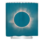 Solar Eclipse In Morning  Color Shower Curtain