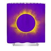 Solar Eclipse In Purple Shower Curtain