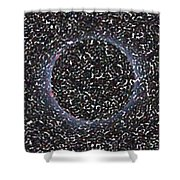 Solar Eclipse In Totality 5 Aboriginal Dotted Art Style Shower Curtain
