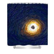 Solar Eclipse In Totality Painting Shower Curtain