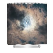 Solar Eclipse No Filter Shower Curtain