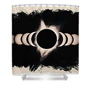 Solar Eclipse Phases 2 Shower Curtain