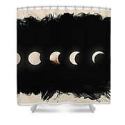 Solar Eclipse Phases Shower Curtain
