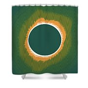 Solar Eclipse Poster 2 Shower Curtain
