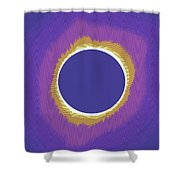 Solar Eclipse Poster 3 Shower Curtain