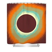 Solar Eclipse Poster 4 Shower Curtain
