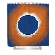 Solar Eclipse Poster 6 Shower Curtain
