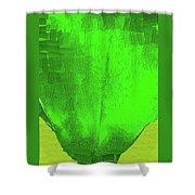 Solar Green Shower Curtain