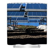 Solar Panels In Connecticut  Shower Curtain