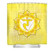 Solar Plexus Chakra - Awareness Shower Curtain