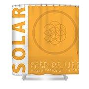 Solar Plexus Chakra Series Three Shower Curtain