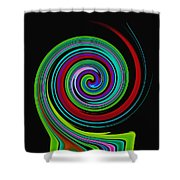 Solar Scroll Shower Curtain