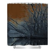 Solarization Shower Curtain