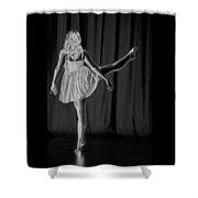 Solarized Dancer Shower Curtain