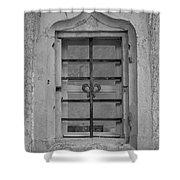 Soldatenbau Window B W Shower Curtain
