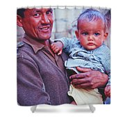 Soldier And Baby Shower Curtain