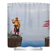 Soldier By Gorge Shower Curtain
