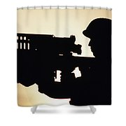 Soldier Holds A Stinger Anti-aircraft Shower Curtain