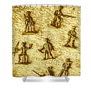 Soldiers And Battle Maps Shower Curtain