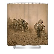 Soldiers In The Dust 2 Shower Curtain