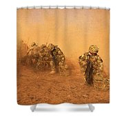 Soldiers In The Dust 4 Shower Curtain