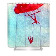 Soldiers In The Sky Shower Curtain