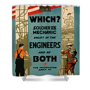 Soldiers Or Mechanic Shower Curtain