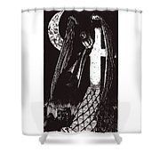 Solemn Vigil Shower Curtain