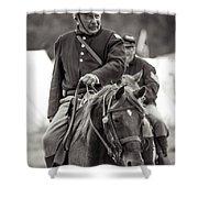 Solider On Horseback Shower Curtain