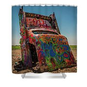 Solitary Burial Shower Curtain