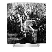 Solitary Cross At Fuerty Cemetery Roscommon Irenand Shower Curtain