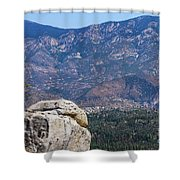 Solitary Pine On Promontory Shower Curtain