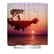 Solitary Sister Shower Curtain by Valerie Anne Kelly