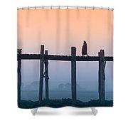 Solitary Walk Shower Curtain