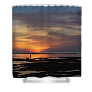 Solitary Woman In Lembongan Shower Curtain